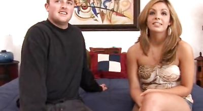 Blonde maiden Lorena Sanchez is astounding and receives a lever in her copher