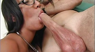 Prurient Gizzelle Royal with big natural tits receives a thick boner in her juicy pussy