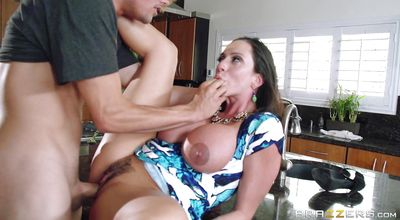 Elegant busty latin woman Ariella Ferrera got banged until her love tunnel got creampied