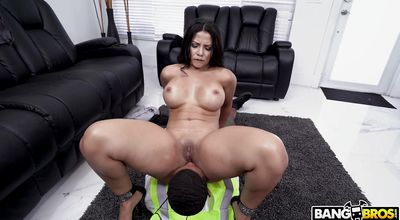 Extraordinary latin girlfriend Rose Monroe takes a vigorous cock ride